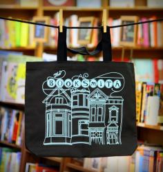 Sturdy and dashing black canvas tote bag